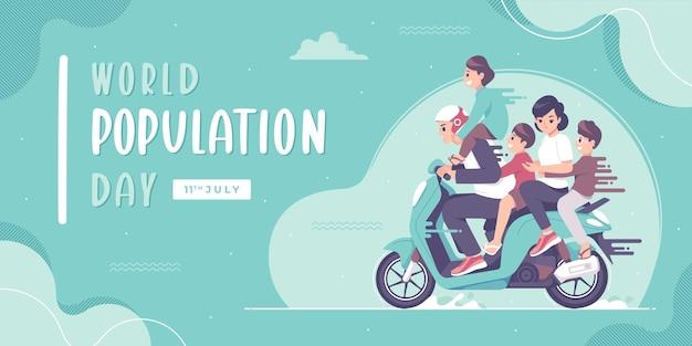 Fondo dell'illustrazione del concetto di giornata mondiale della popolazione