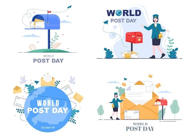 Illustrazione vettoriale della giornata mondiale della posta