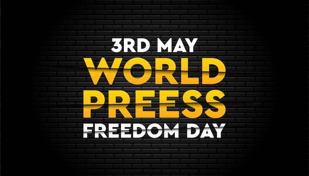 Modello della giornata mondiale della libertà di stampa