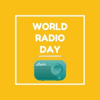 Illustrazione del fondo di giornata radiofonica mondiale
