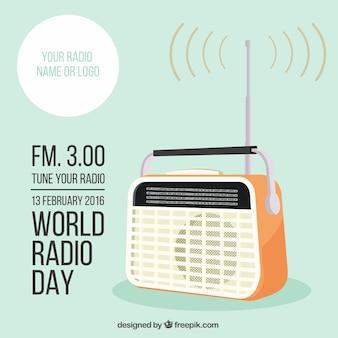 Mondiale template giorno la radio Vettore Premium