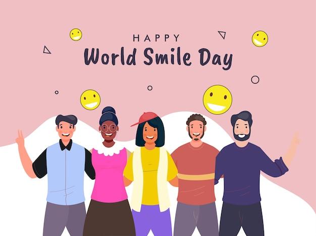Concetto di giornata mondiale del sorriso