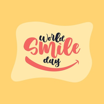 Iscrizione della giornata mondiale del sorriso