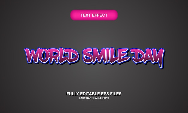 Effetto testo giornata mondiale del sorriso