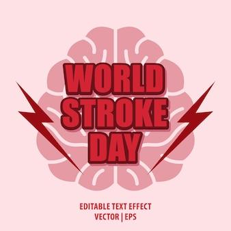 Poster o sfondo della giornata mondiale dell'ictus con testo modificabile