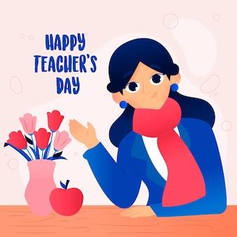 Illustrazione del giorno dell'insegnante mondiale
