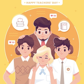 Sfondo illustrazione giornata mondiale degli insegnanti