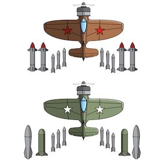 World war jet fighter Vettore Premium