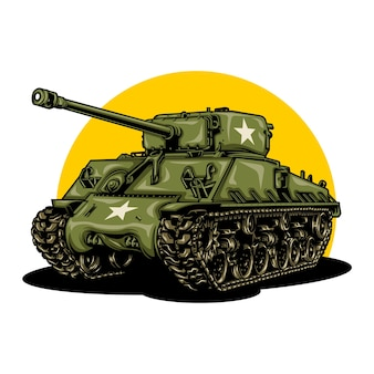 Illustrazione del carro armato di guerra mondiale