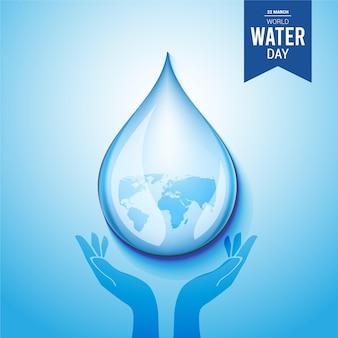 Giornata mondiale dell'acqua. risparmiare acqua.