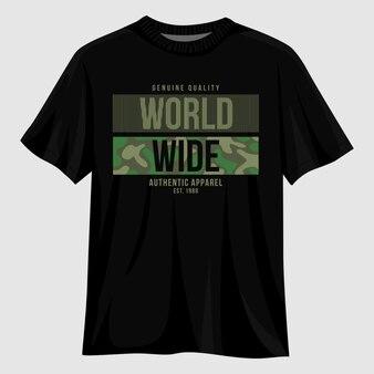 Design di magliette tipografiche in tutto il mondo