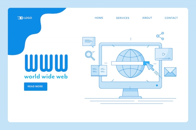 Pagina di destinazione del world wide web