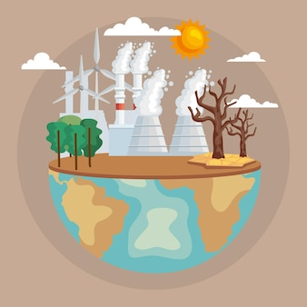 Mondo con contaminazione