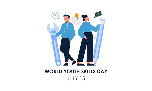 Illustrazione del concetto di giornata mondiale delle abilità giovanili