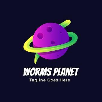 Worms planet logo illustrazione
