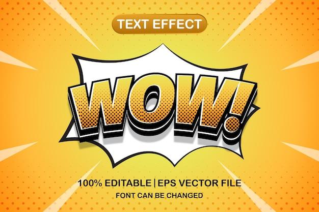 Wow 3d effetto di testo modificabile