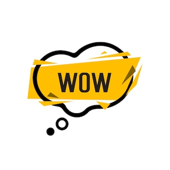 Wow lettering in bubble speech