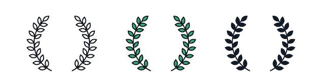Corona semplice illustrazione icona segno
