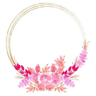 Cornice floreale dell'acquerello di corona