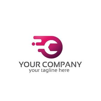 Servizi chiave inglese - modello logo