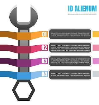 Strappo con tag nastro infografica