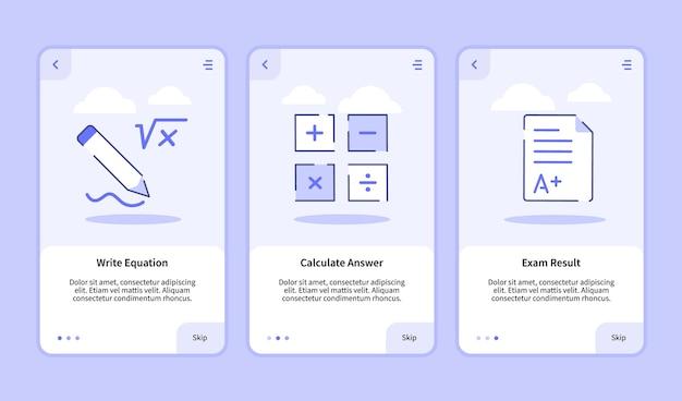 Scrivi l'equazione calcola la risposta alla schermata di inserimento dei risultati dell'esame