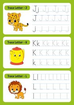 Scrivere lettere con animali per bambini