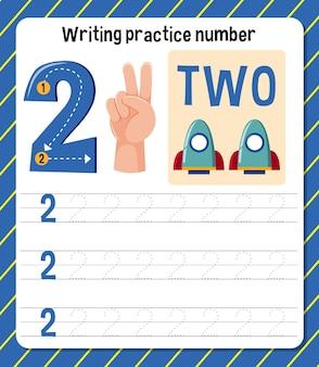 Scrittura del foglio di lavoro numero 2 della pratica