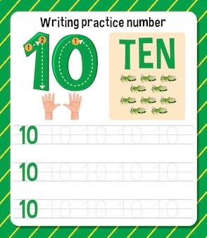 Scrittura del foglio di lavoro del numero di pratica