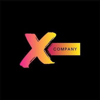 Logo di design a x, logo a forma di x, logo del festival