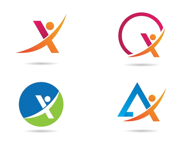 X lettera logo