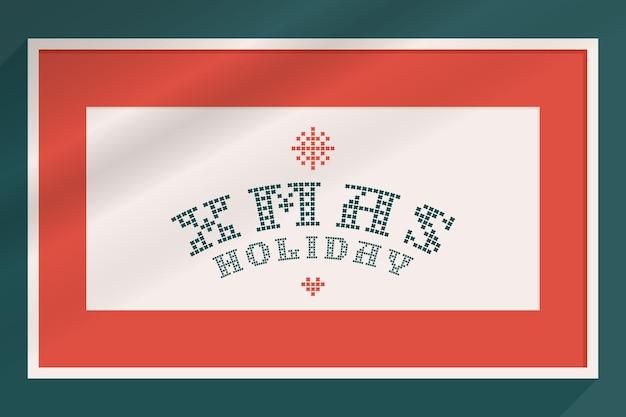 Le scritte natalizie sono fatte di maglie rotonde spesse segno di stile piatto con un set di icone bonus