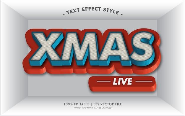 Stile di effetti del testo di xmas live