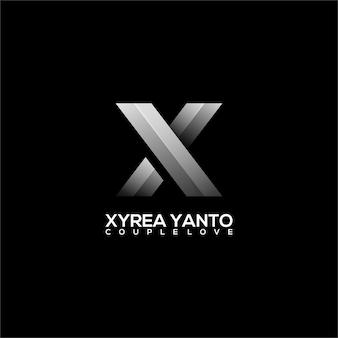 Gradiente di illustrazione del logo xy