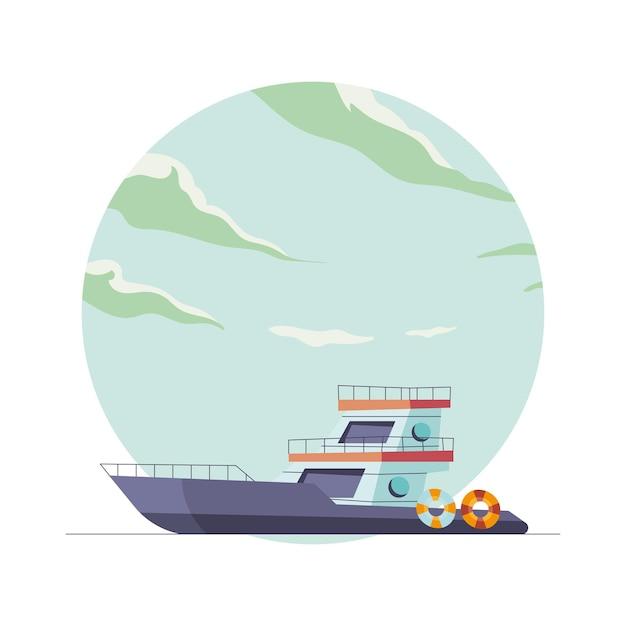 Veicolo yacht con galleggianti