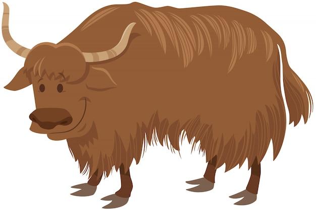 Personaggio di animali selvatici dei cartoni animati di yak