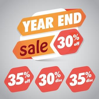 Fine anno vendita 10% 15% di sconto