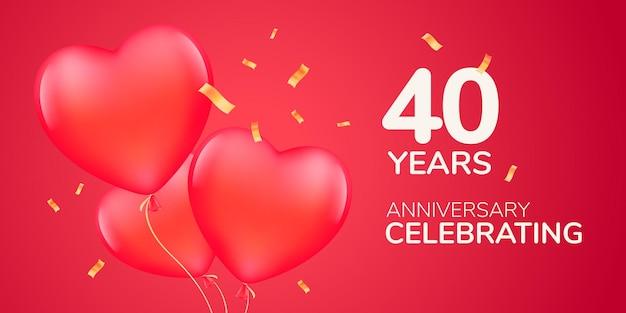 Anni anniversario logo, icona.