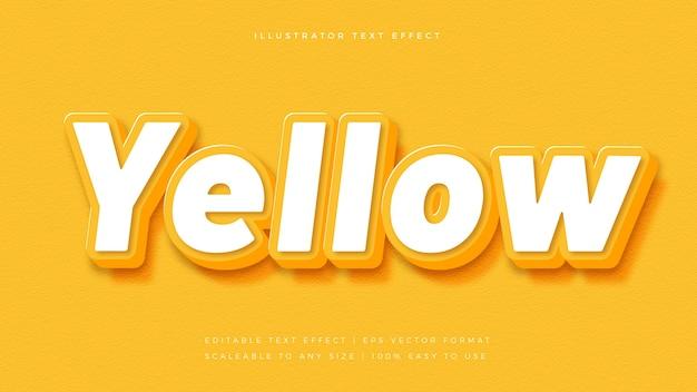 Effetto carattere stile testo 3d giallo