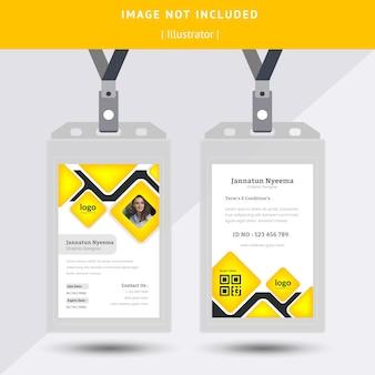 Disegno astratto giallo carta d'identità