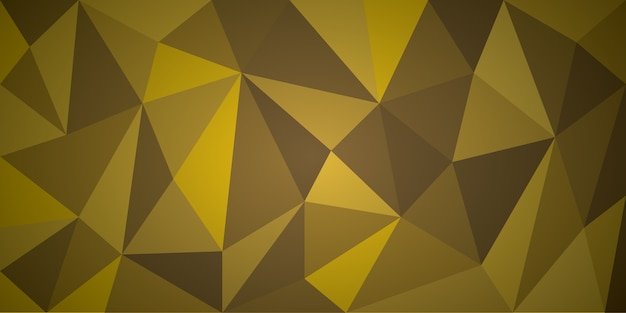 Sfondo astratto giallo poligono