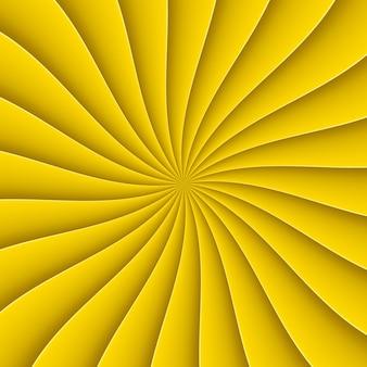 Sfondo giallo in forma astratta ventilatore con linea di piegatura