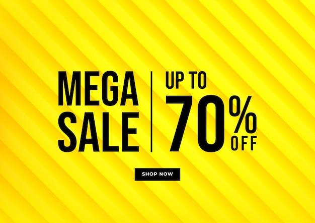 Offerte speciali di sfondo giallo e design del modello di promozione.