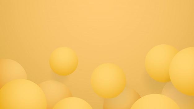 Palla gialla sfondo astratto