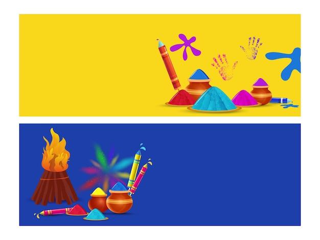 Banner design giallo e blu
