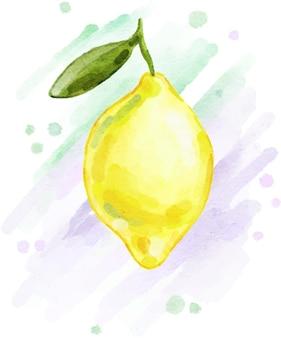Stampa giallo limone brillante dipinta ad acquerello
