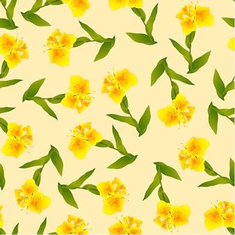 Giglio di canna giallo su avorio beige background
