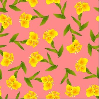 Giglio di canna giallo su fondo rosa