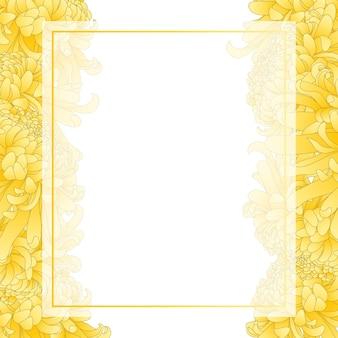 Bordo di carta banner fiore giallo crisantemo.