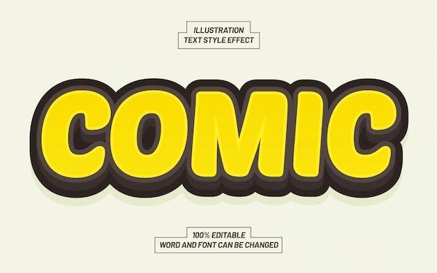 Effetto di stile di testo comico giallo